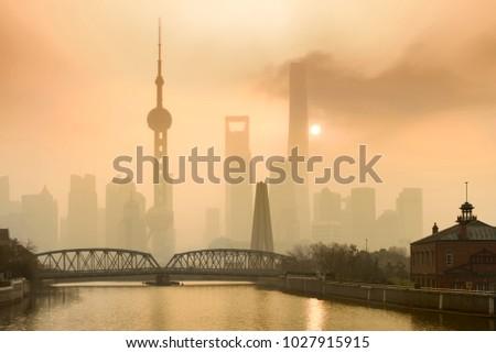 shanghai financial center and...