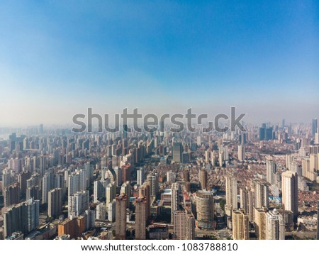 Shanghai Huangpu River with both sides view, China #1083788810