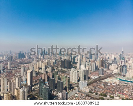 Shanghai Huangpu River with both sides view, China #1083788912