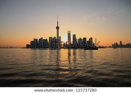 Shanghai landmark at New skyline