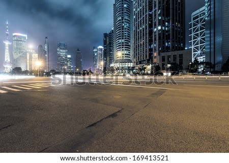 Shutterstock Shanghai Lujiazui Finance and Trade Zone of the modern city night background