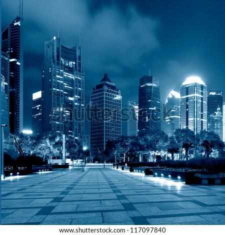 shanghai lujiazui finance and trade zone skyline #117097840