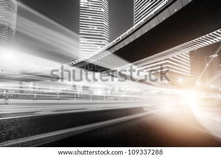 Shanghai Lujiazui Finance & Trade Zone modern city night background #109337288