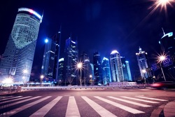 Shanghai Pudong City Night