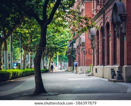 Shanghai Street / European style Сток-фото ©