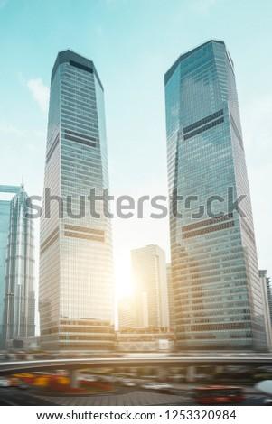 Shanghai-Urban Landmark Architecture and Road Traffic Transportation #1253320984