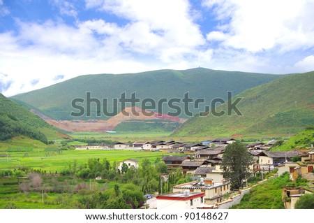 Shangri-La Chinese countryside scenery