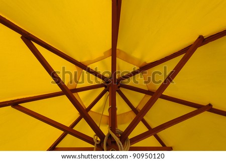 Shape and structure of patio umbrella
