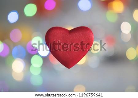 Shape of heart. Red heart.  #1196759641