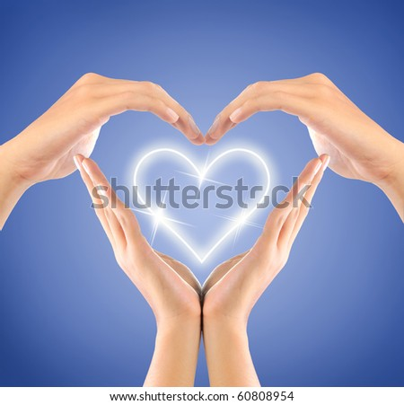 shape of love sign made by hands #60808954