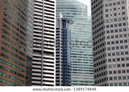 Shape of structure building detail. Detail of abstract architecture texture background #1389174848