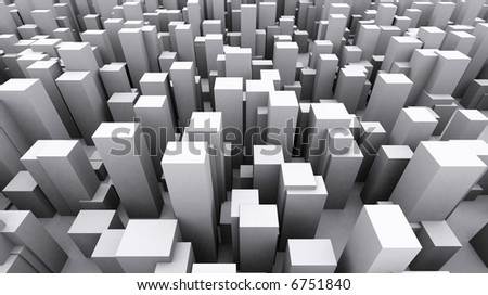 Shapes of a city abstract
