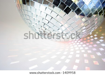 shapes of light cast by a discoball