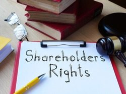 Shareholders rights is shown on the conceptual business photo