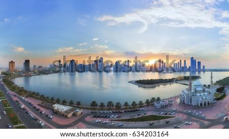Sharjah Sunset Panorama