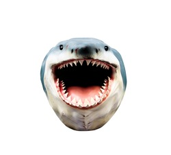shark head model isolated on white background