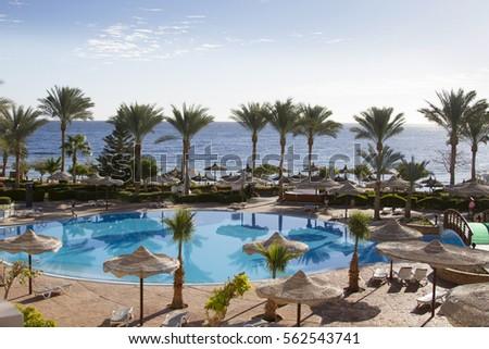 Sharm El Sheikh, EGYPT - January 11, 2017.Resort in Sharm El Sheikh #562543741