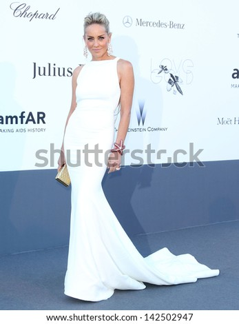 Sharon Stone at the 66th Cannes Film Festival - amfAR's 20th Annual Cinema Against AIDS - Arrivals, Cannes, France. 23/05/2013
