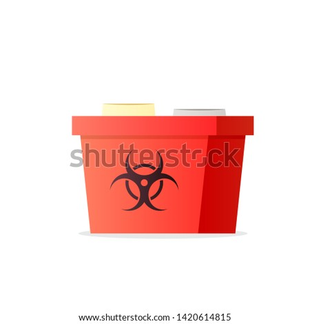 Sharp container icon. Medicine waste clipart isolated on white background