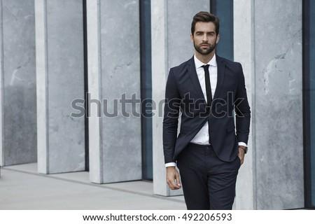 Sharp dressed man in business suit, portrait