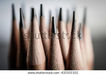 Sharpen pencils close-up background.