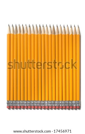 Sharpened pencils isolated on a white background