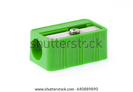 sharpener pencil isolated on white background #640889890