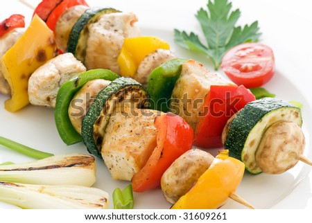 Shashlik with Chicken and Vegetables