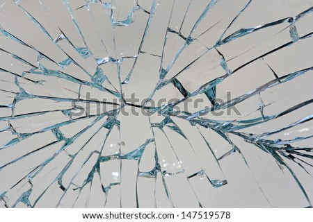 Stock Photo Shattered glass background