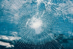Shattered glass window