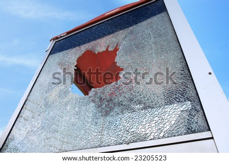shattered phone box