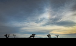 Shattered Skies over Eden: A shot in the Eden Valley as the setting spring sun and clouds offer dramatic detail in the sky; giving a rare appearance of a 'shattered sky'.