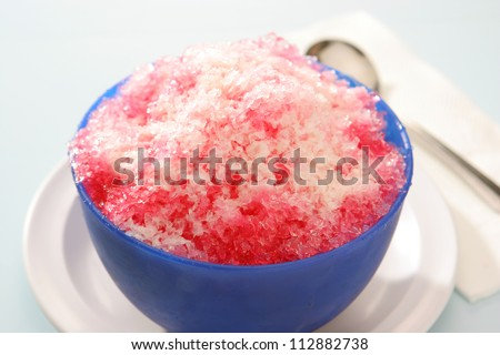 Shave Ice with Sala Flavor and condensed milk