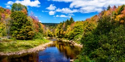 Shavers Fork of Cheat River on the first day of Fall, Monongahela National Forest, West Virginia, USA