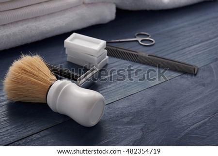 Shaving accessories horizontal #482354719
