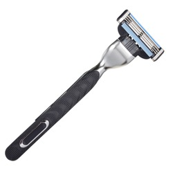 Shaving razor isolated on a white background. With clipping path