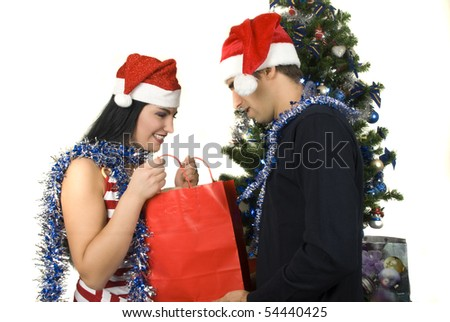 She just received a Christmas gift from her husband,boyfriend,lover...,