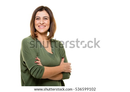 She's confident in herself Foto stock ©