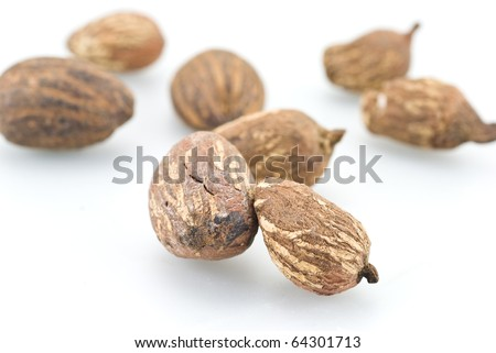 Sheabutter nuts on white