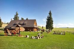 Sheep farm Ziar in Ziarska valley in the Western Tatras in Slovakia.