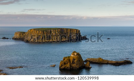 Sheep Island, North Antrim Coast, County Antrim, Northern Ireland