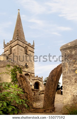 Sheepgate allowing people but not cattle into Lacock 15th century medieval church