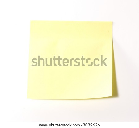 Sheet of a paper for records or marks for memory - stock photo
