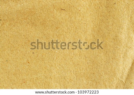 Sheet of brown paper for background