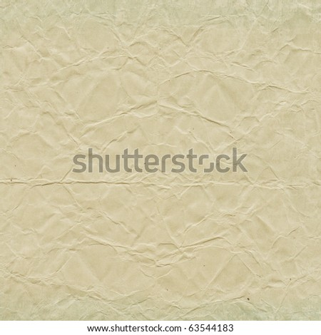 Sheet of crumpled paper