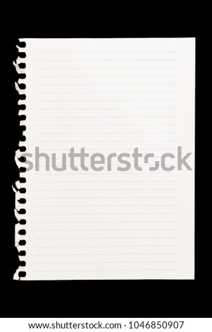 Sheet of notebook to be used as background image in compositions #1046850907