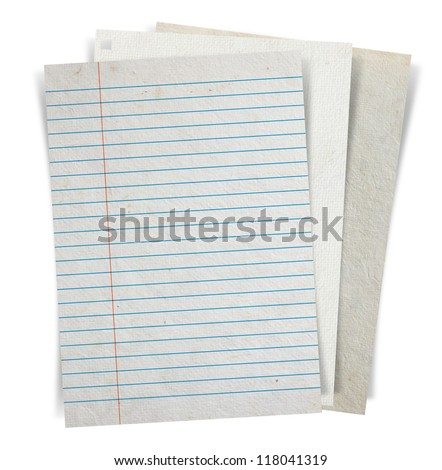 Sheet of paper stack isolated on white background, Objects with Clipping Paths for design work