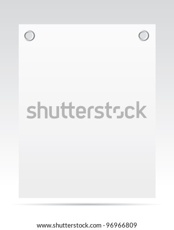 Sheet of paper with a gray background