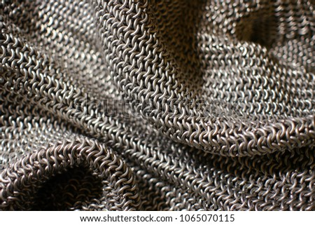 sheet of steel chainmaille #1065070115