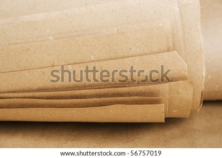 sheets of brown paper kraft roll texture